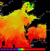 AVHRR sea surface temperature 2014-04-01 – 2014-04-07