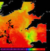 AVHRR sea surface temperature 2014-09-16 – 2014-09-22