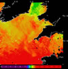 AVHRR sea surface temperature 2014-04-22 – 2014-04-28